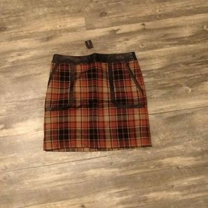 💋Outback red plaid mini skirt